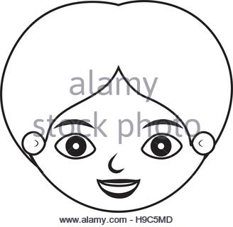 328x320 Drawing Face Boy Smiling Avatar Design Stock Vector Art