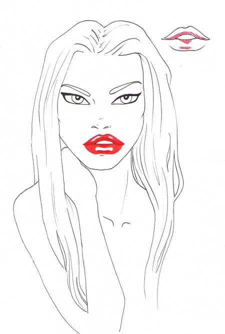 450x668 How to draw sexy lips I Draw Fashion