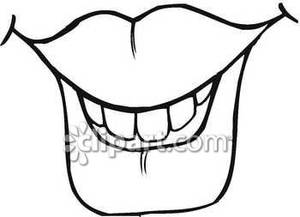 300x217 Image result for mouth clipart black and white Characterization