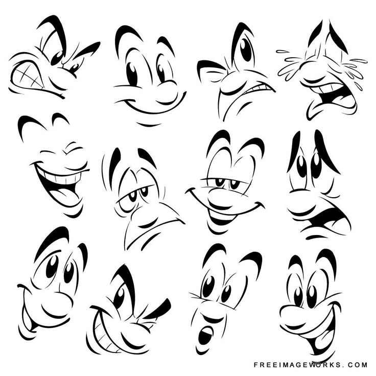 736x736 mouth, nose and eyes expressions for art