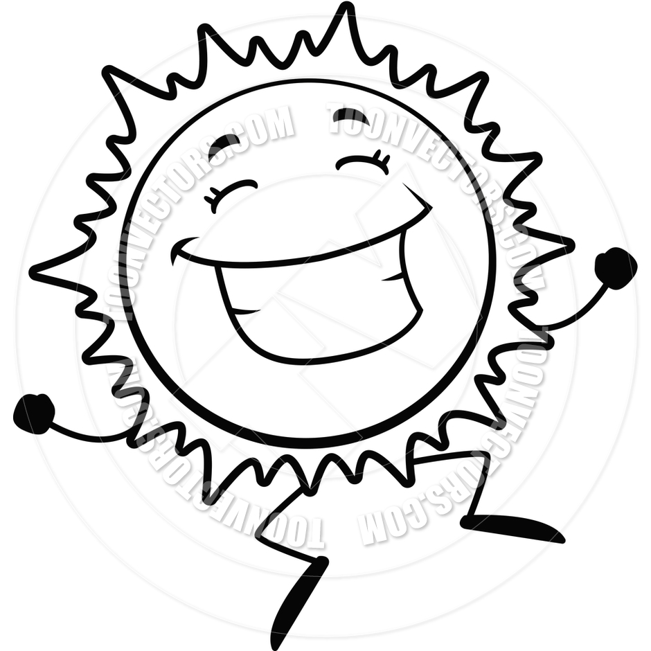 940x940 Smiling Sun Black And White Clipart
