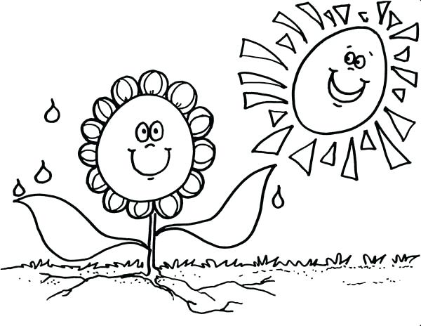 600x464 Smiling Sun Coloring Pages Page Suns Moons Stars Silhouettes