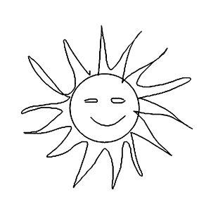 300x300 Smiling Sun Drawings Fine Art America