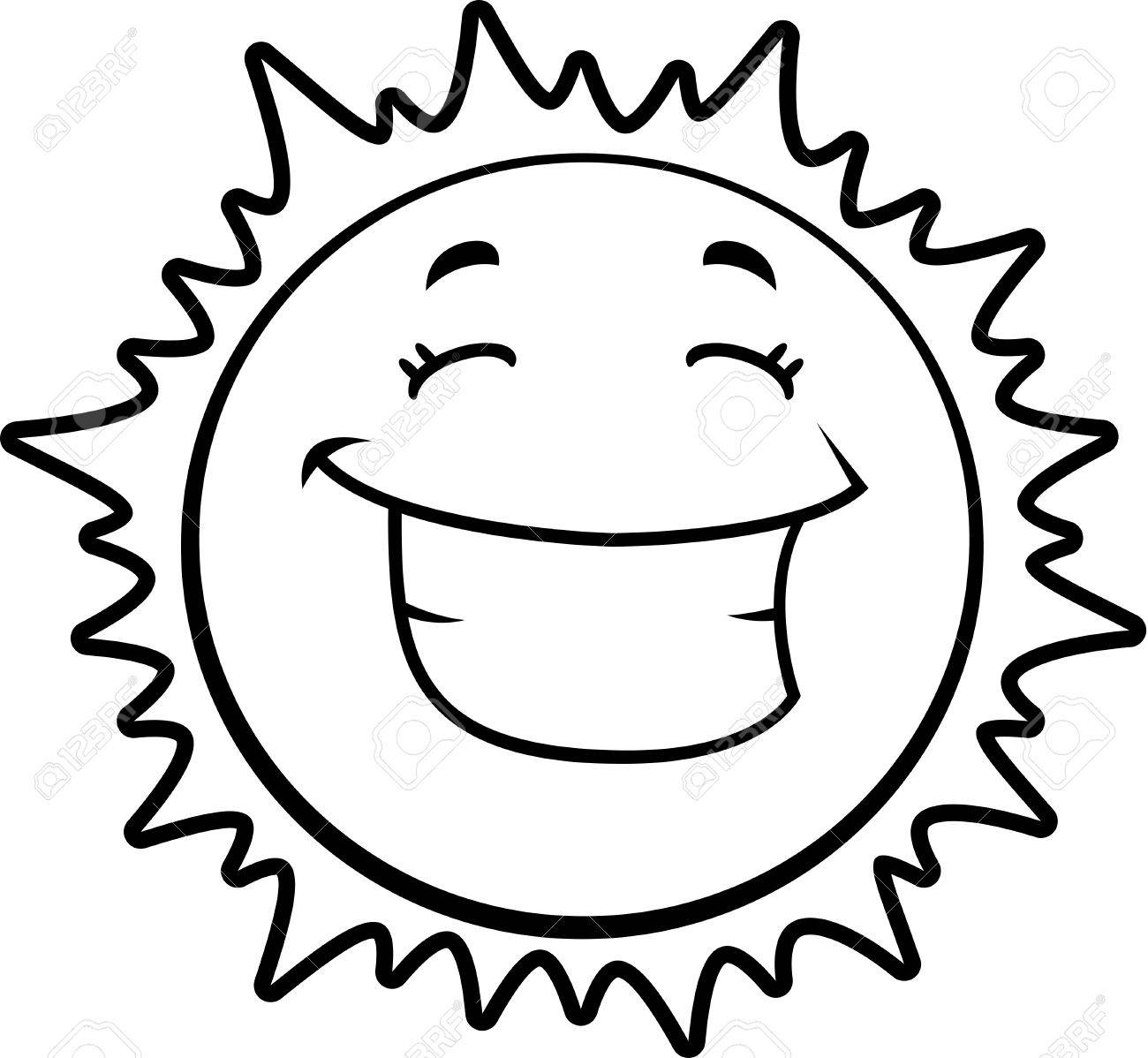 1300x1198 A Cartoon Yellow Sun Happy And Smiling. Royalty Free Cliparts