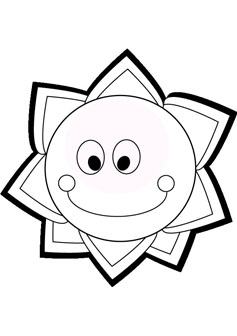 237x336 Smiling Sun Coloring Pages Pictures