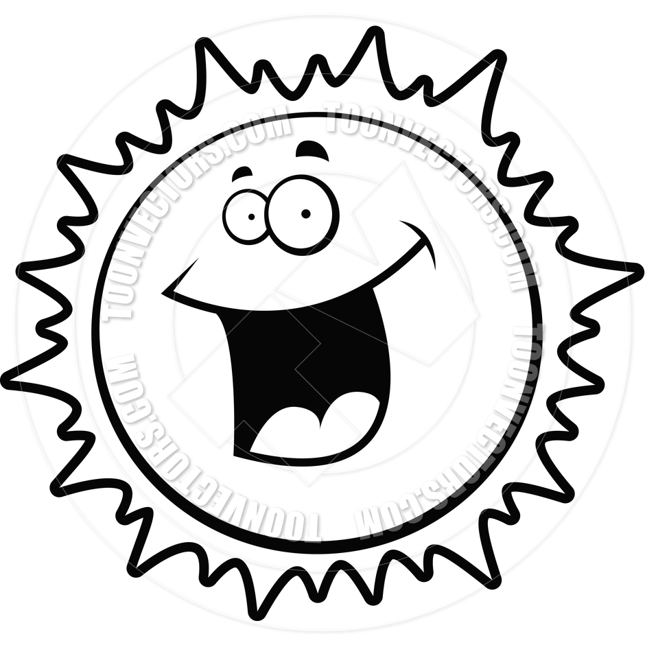 940x940 Sun Smiling (Black And White Line Art) By Cory Thoman Toon
