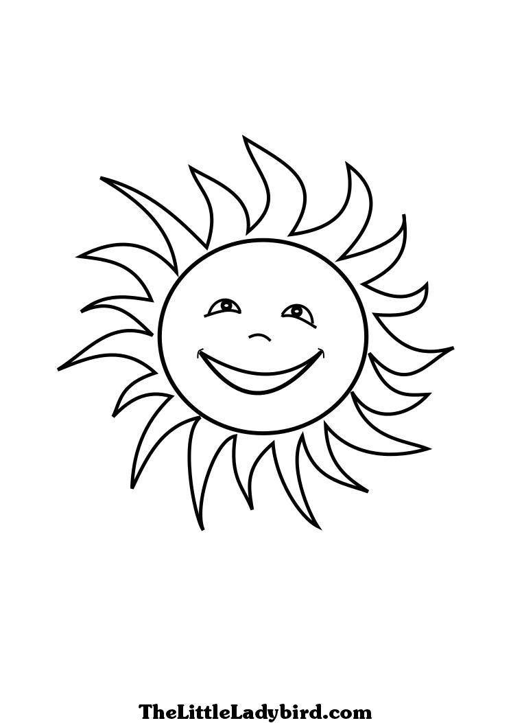 745x1053 Sun Coloring Pages
