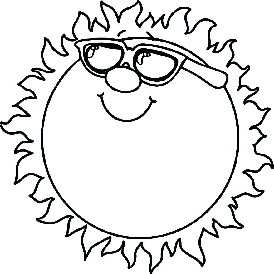 878x878 Sun Coloring Pages