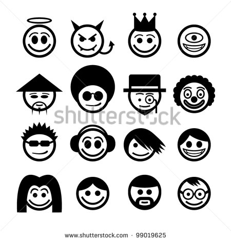 450x470 12 Japanese Emoticon Vector Images
