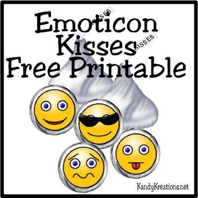 400x400 Emoticon Smiley Face Kiss Label Free Printable Emoticon, Smiley