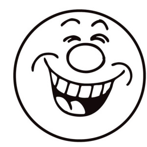 300x300 Happy Face Coloring Page