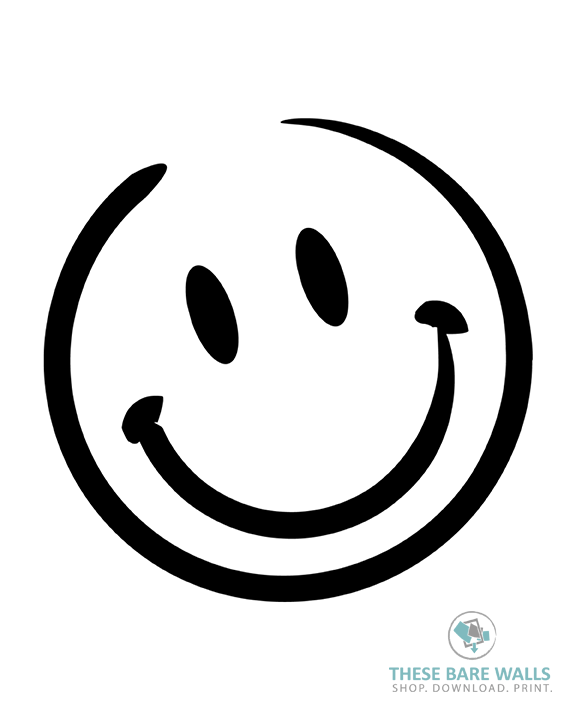 576x720 Smiley Face Printable Wall Art These Bare Walls
