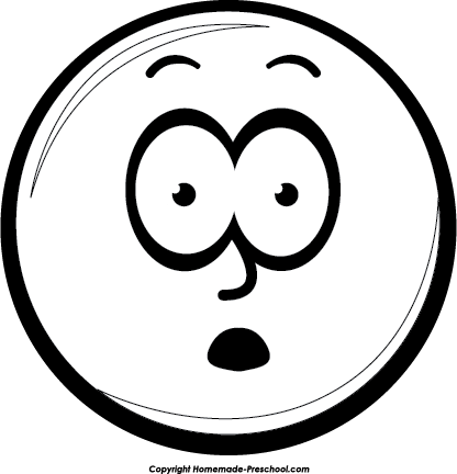 416x432 Clipart Smiley Face Black And White