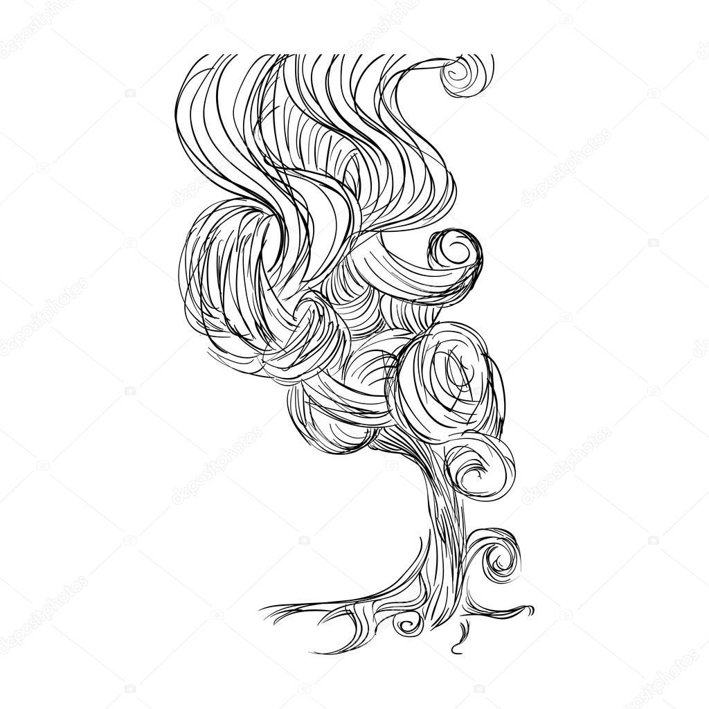 1024x1024 Smoke Icon. Sketch Design. Vector Graphic Stock Vector Djv