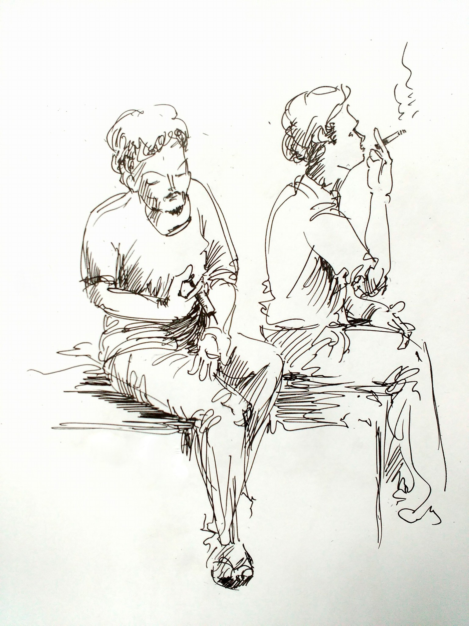 1536x2048 Comic Sketch Of Quit Smoking Pencil Shades