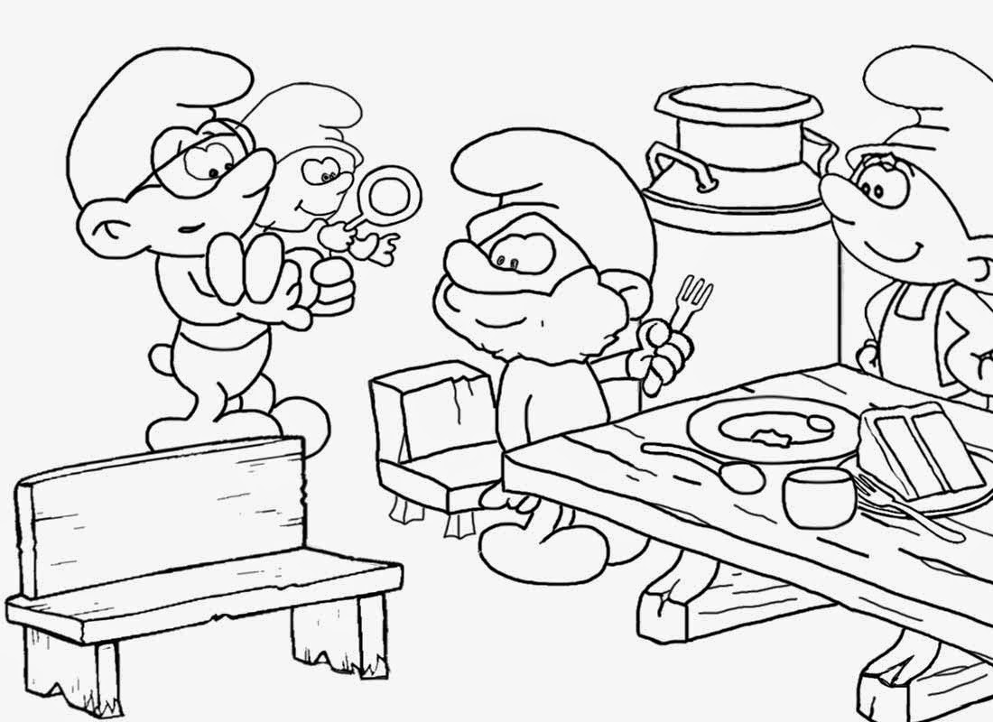 1100x800 Lets Coloring Book Smurfs Coloring Books For Teenagers Smurf Free