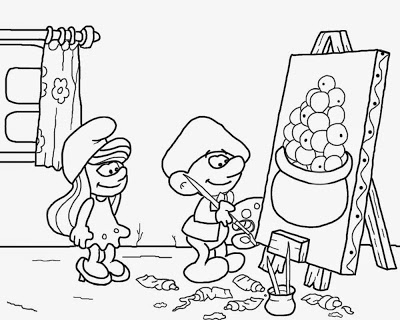 400x320 Lets Coloring Book Smurfs