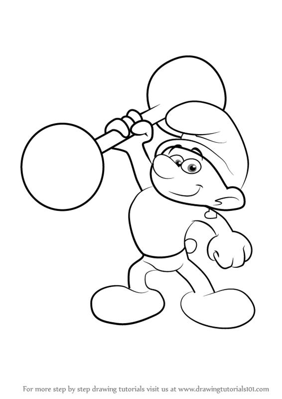 566x800 Learn How To Draw Hefty Smurf From Smurfs