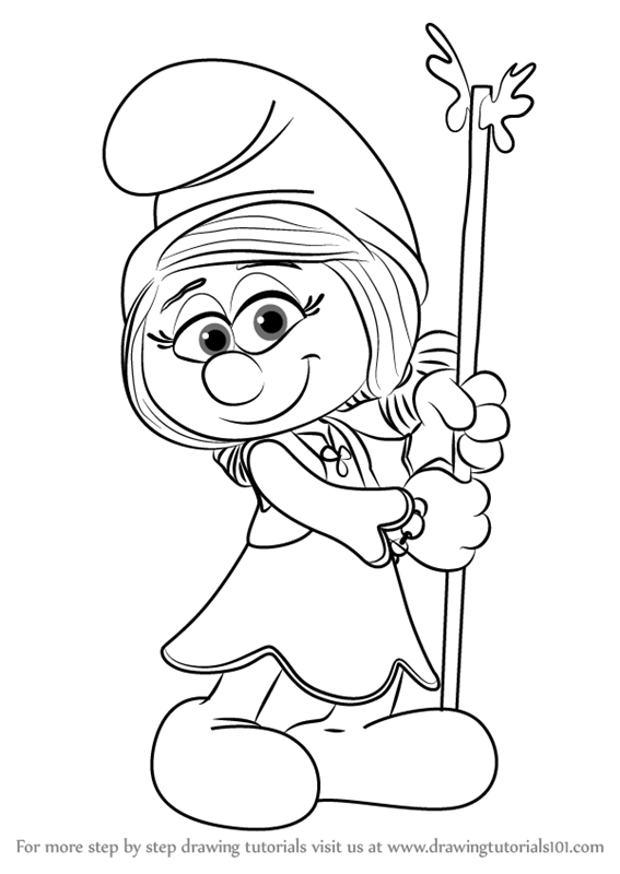 567x800 Learn How To Draw Smurfwillow From Smurfs
