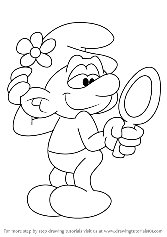 566x800 Learn How To Draw Vanity Smurf From Smurfs