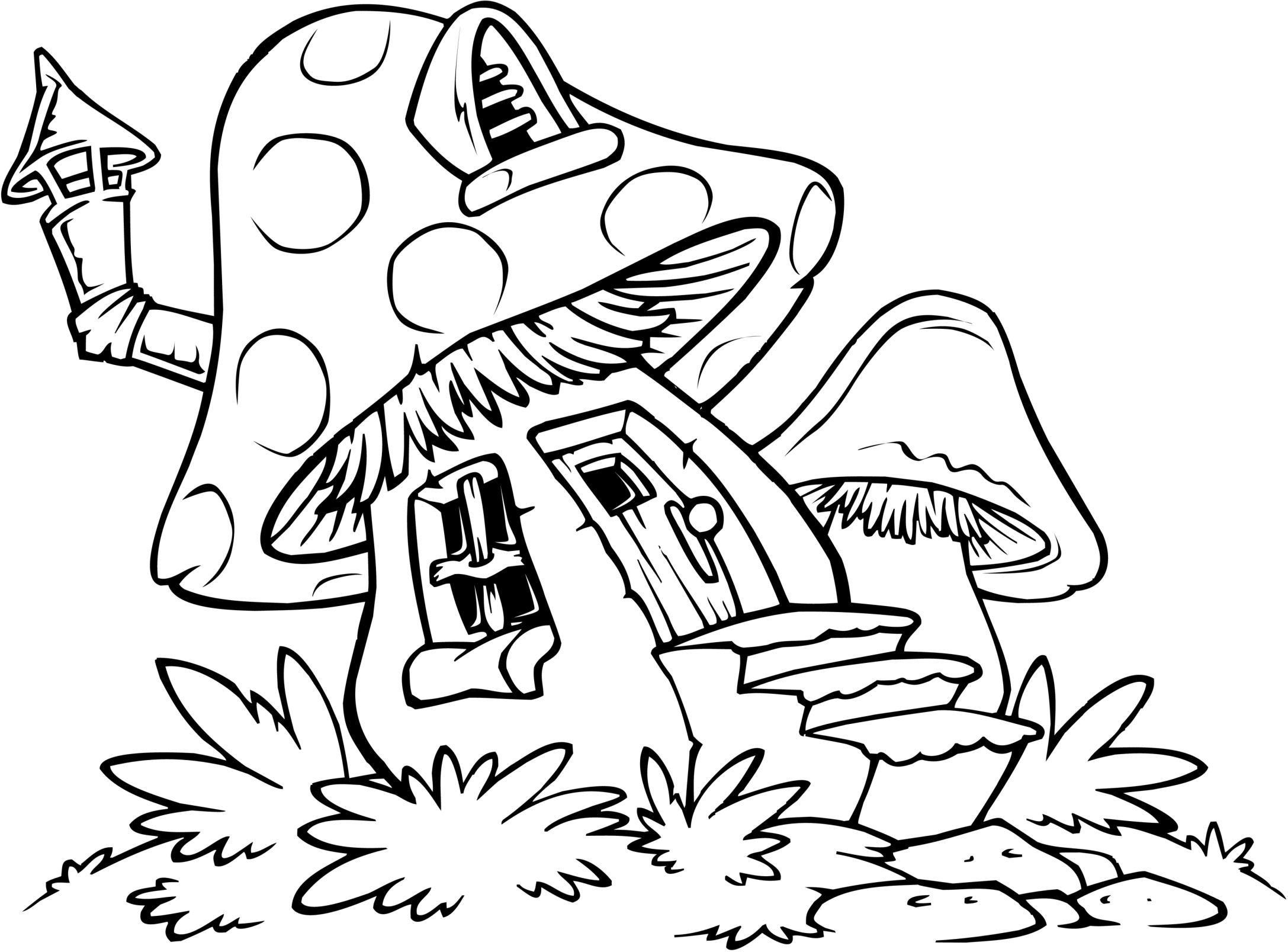 2175x1607 Smurf Coloring Pages