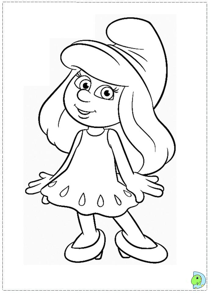691x960 Smurf Coloring Pages