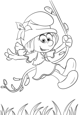 333x480 Smurflily From Smurfs The Lost Village Coloring Page Free