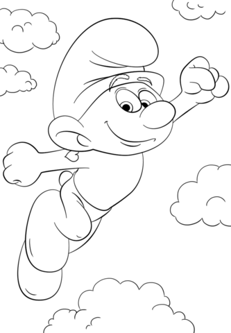 333x480 hefty smurf coloring page free printable coloring pages