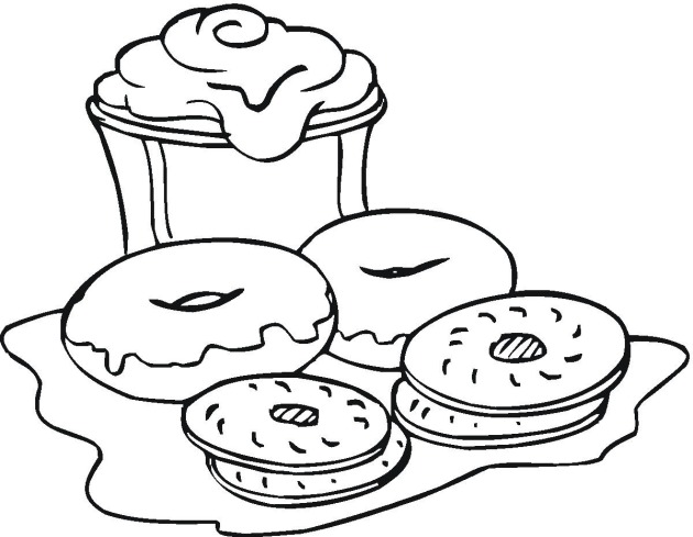 630x489 Free Snacks Coloring Pages