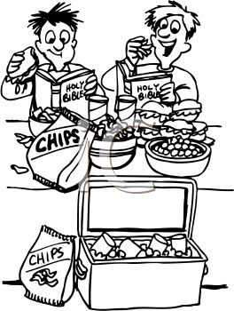 264x350 Boys Eating Snacks White Doing Bible Study