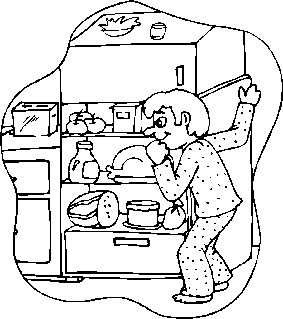 908x1024 Snacks Coloring Pages