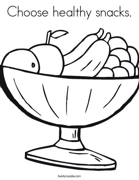 468x605 Choose Healthy Snacks Coloring Page