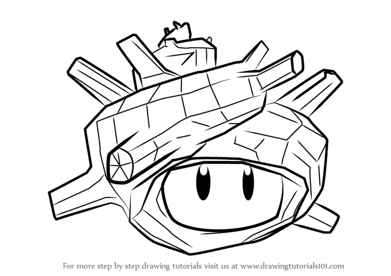 800x565 Learn How To Draw Super Sea Snail From Splatoon (Splatoon) Step By