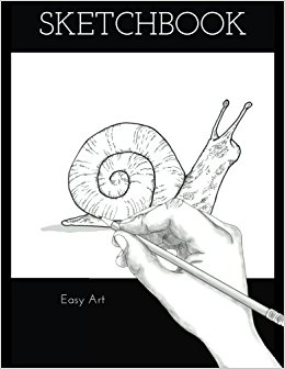 260x336 Sketchbook Snail Drawing Pad, 100 Blank Pages, Extra Large (8.5 X