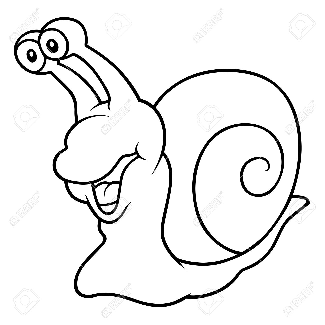 1300x1300 Drawn Snail Cartoon