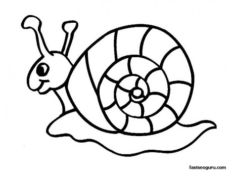 451x338 Printable Coloring Pages Animal Snails For Kids