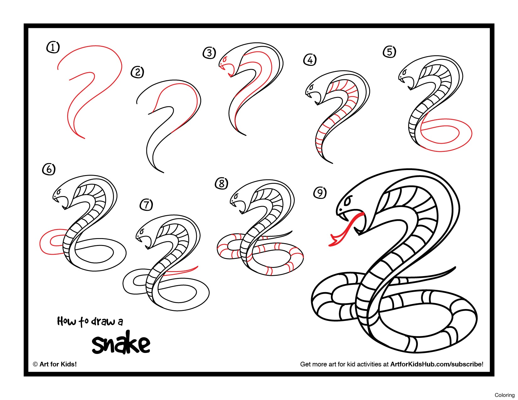 snake 3d drawing at getdrawings com