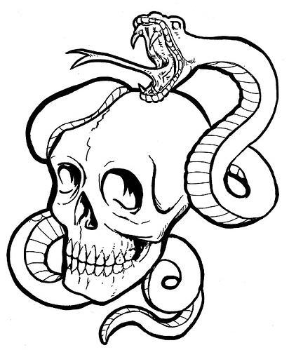 412x499 How to Draw a Skull 50 Tutorials Drawn in Black Draw