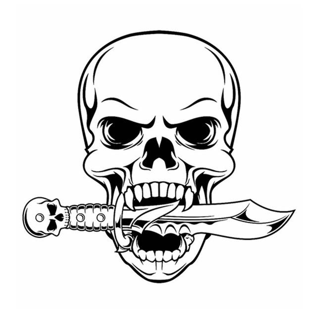 640x640 Skull Halloween Dagger Snake Sticker Punk Death Decal Halloween