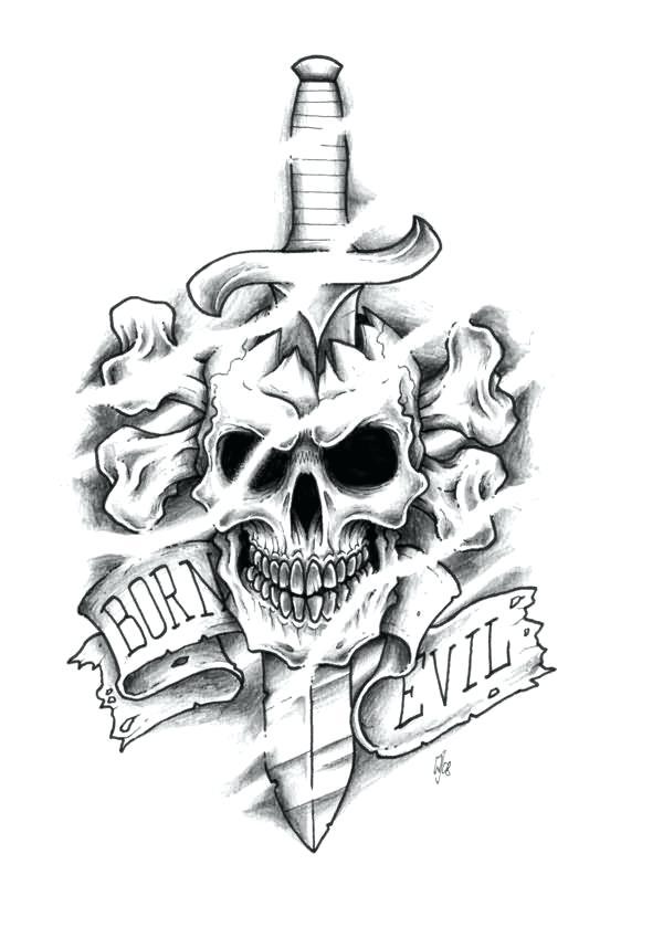 600x849 Skull Tattoo Flash Art Snake And Skull Tattoo Art Sticker Picture