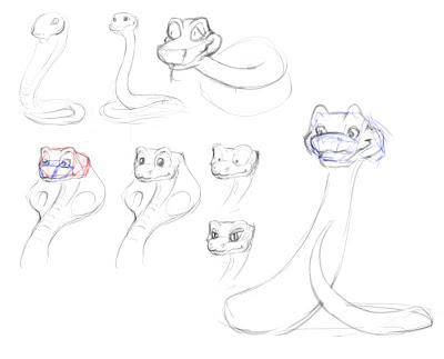 400x323 Nana Draws! Snake bite