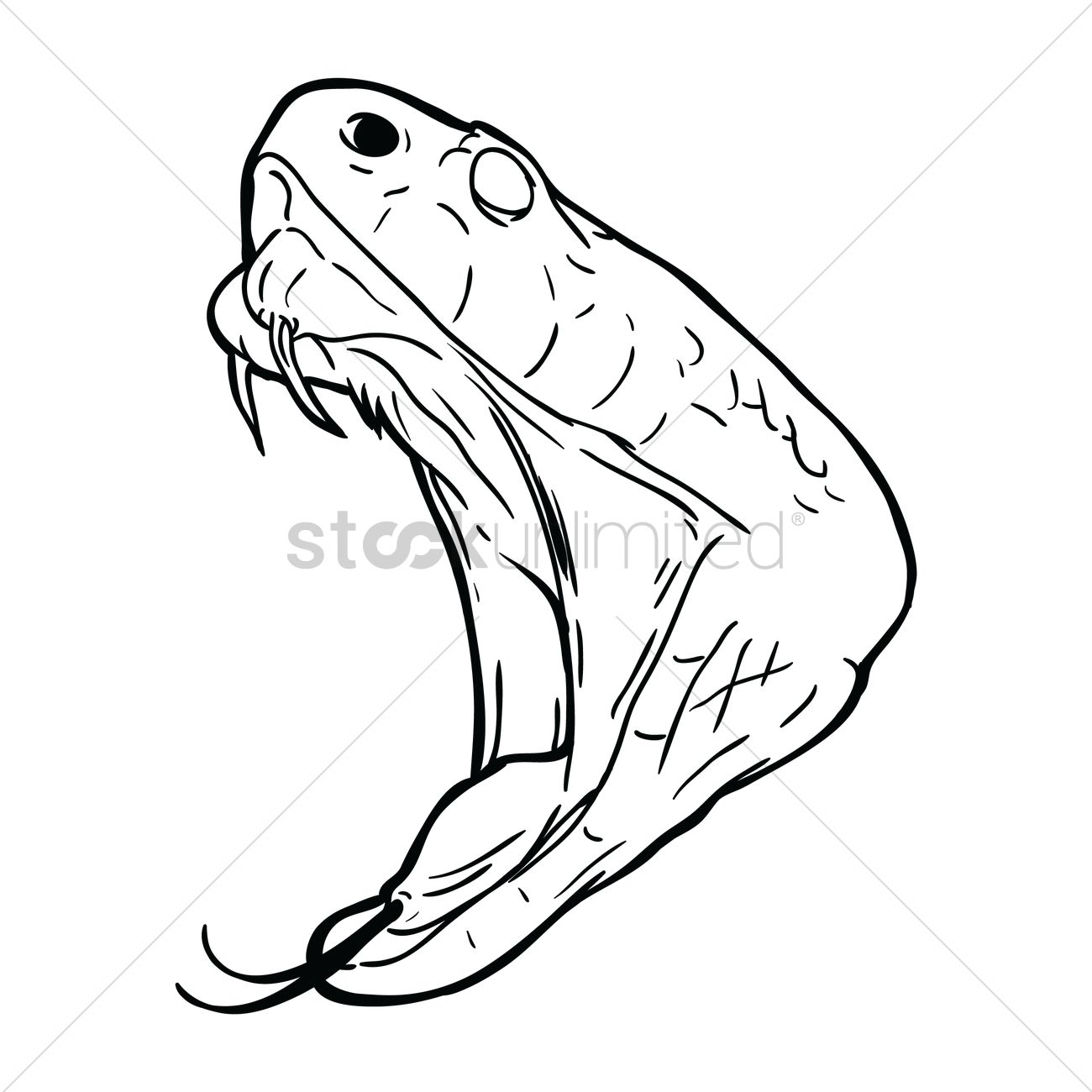 1300x1300 Free Snake Face Vector Image