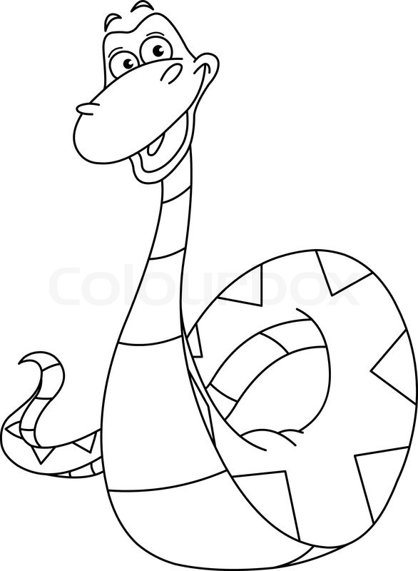 586x800 Outlined Snake Stock Vector Colourbox