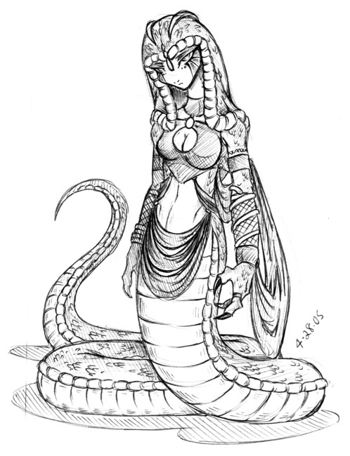 498x650 New Character The Snake Queen By Dokuro
