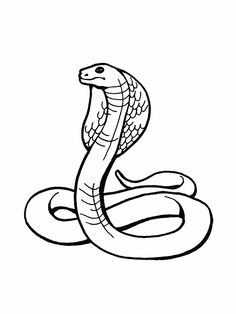 236x314 Snake Drawings For Kids King Cobra Coloring Pages Backyard