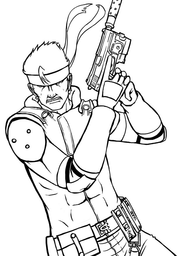 620x877 Solid Snake Sketch by TricksyPixel on DeviantArt
