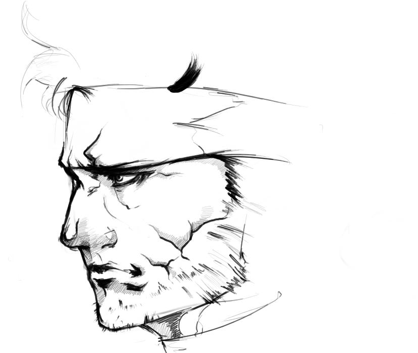 828x700 Solid Snake Sketch By Animixter
