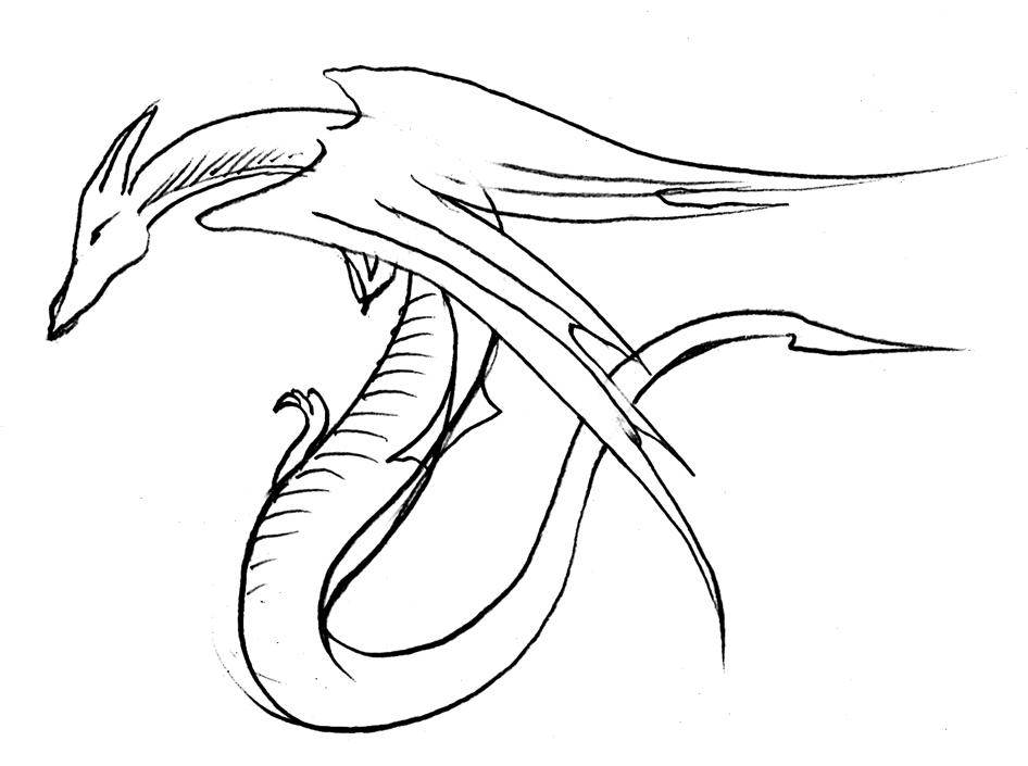946x705 Drawn serpent easy draw