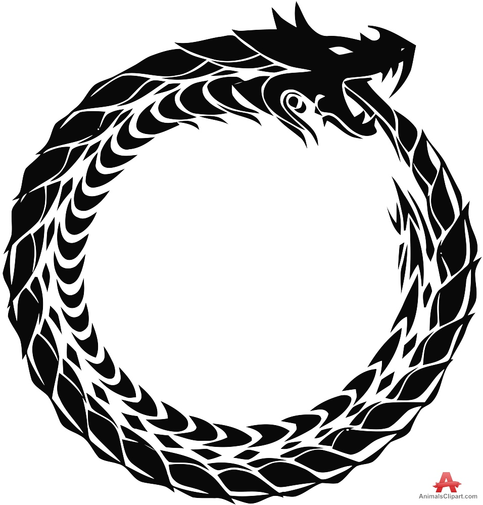 956x999 Tribal Ouroboros Snake Dragon Clipart Free Clipart Design Download