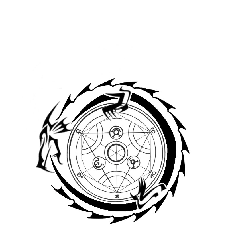 800x800 Tribal Outline Ouroboros Tattoo Design